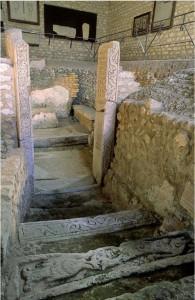 Poitiers, hypogée des Dunes. Accès vu depuis l'ouest (cl. Christian Vignaud / Musées de Poitiers)