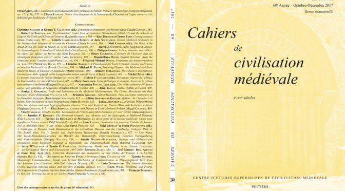 Cahiers de civilisation médiévale 60/4 (fascicule 240)