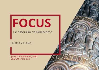 [15 novembre 2018] Focus n° 2 : le ciborium de San Marco