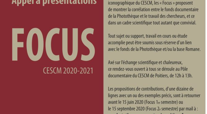 Appel à présentations FOCUS 2020/2021